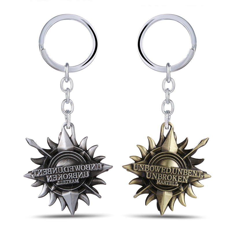 MS JEWELS Game Of Thrones House Martell Keychain A Song Of Ice And Fire Metal Key Rings Chaveiro(China (Mainland))