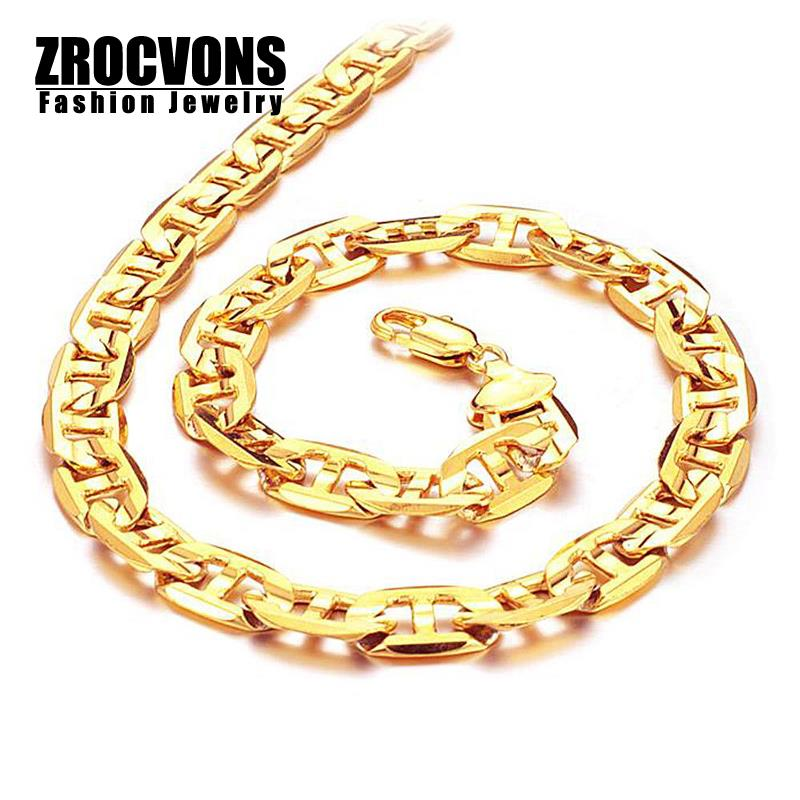 2015 New wholesale HOT SALE Fashion18K Gold Plated Chain Necklace for Men(China (Mainland))