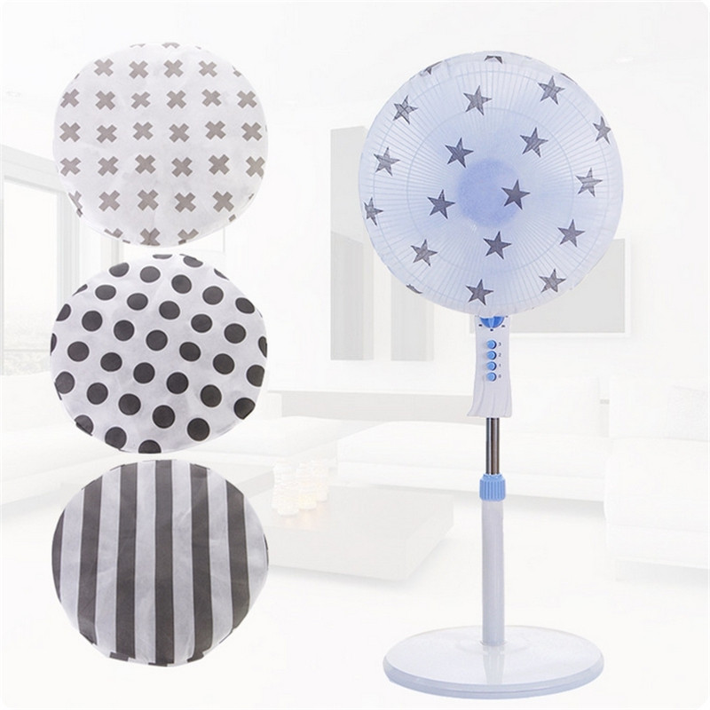 Electric Fan Dust Cover Useful Fashion Brief Circle Fan Protection Case Baby Safety Fan Cover Storage Bag Organizer Non-woven(China (Mainland))
