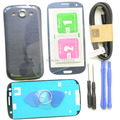Blue Black White Replacement S3 Front Screen Glass Lens Kit For Samsung Galaxy S3 Case Tempered