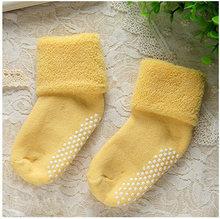 Calcetines para niños y niñas recién nacidos al por mayor de algodón antideslizante Otoño e Invierno envío gratis 0- 3 años(China)