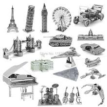 3D Metall Puzzles Erde Modell Stichsägen Lernspielzeug 3d Puzzle kinder spielzeug Montieren DIY puzzles für kinder Erwachsene Geschenk(China (Mainland))