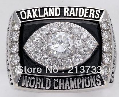 1978 Oakland Raiders Super bowl championship ring - Blue water ornaments factory store