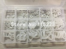225 PCS Clear Food Grade Silicone Rubber O-Ring Seal Kit O Seal Ring Different Sizes(China (Mainland))
