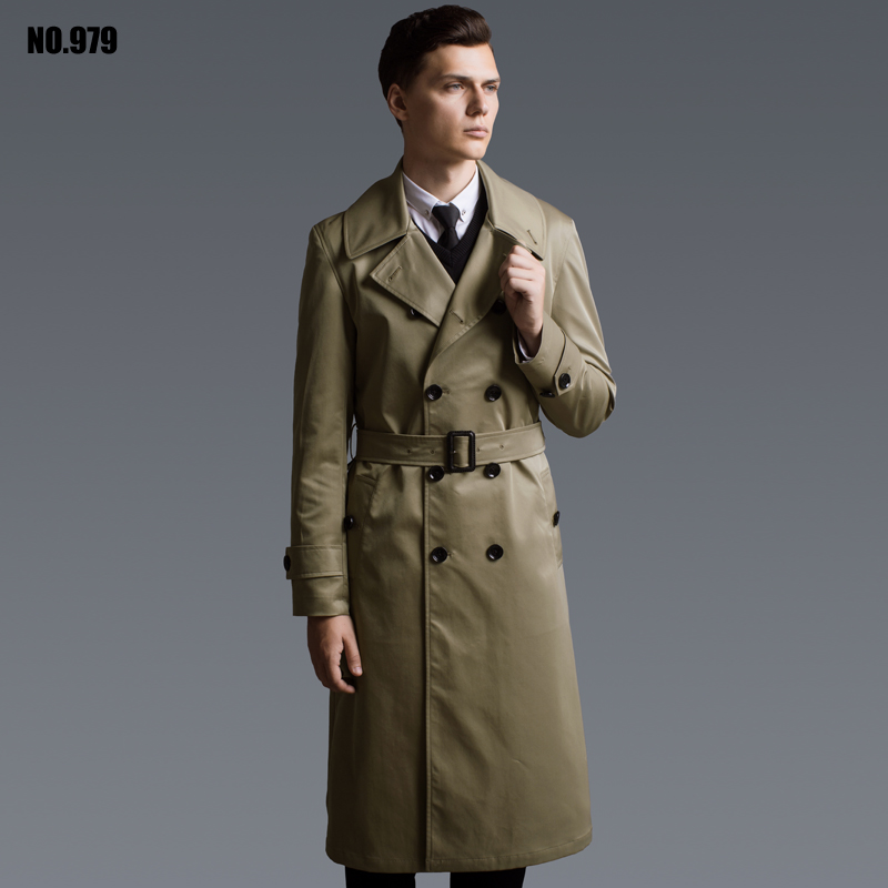 online get cheap mens extra long trench coat alibaba group. Black Bedroom Furniture Sets. Home Design Ideas