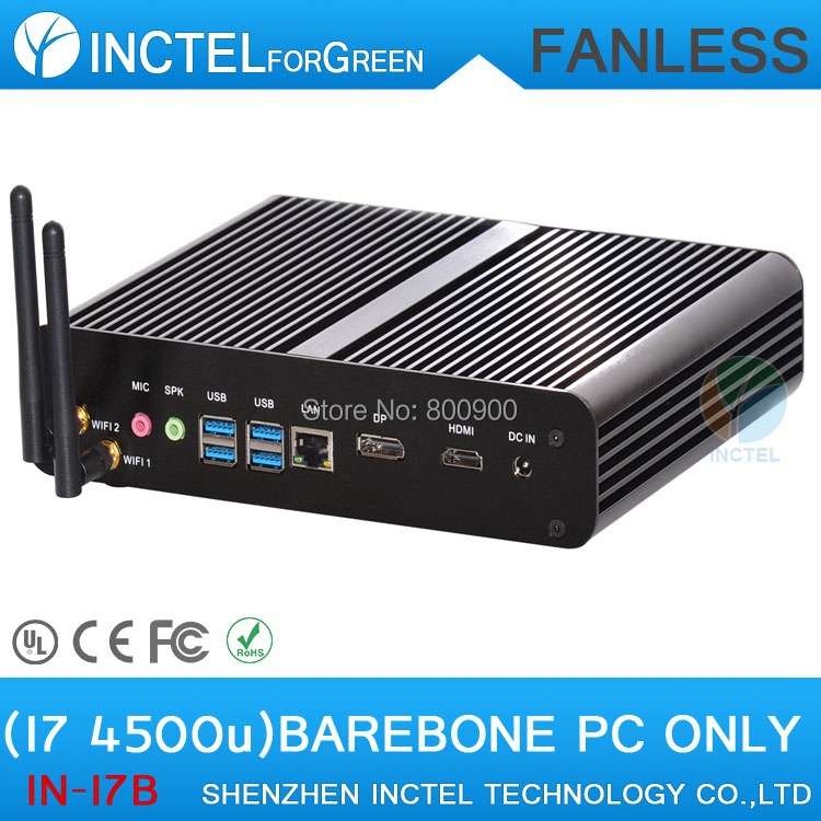 The high review mini pc desktop computer mini itx small HTPCs with haswell Intel Core i7 4500U 1.8Ghz USB3.0 HDMI DP(China (Mainland))