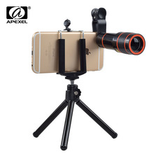 Buy Apexel Universal Clip 12X Zoom Telephoto Lens Optical Mobile Phone Telescope Camera lente iPhone Sumgung HTC APL-HS12X for $8.44 in AliExpress store