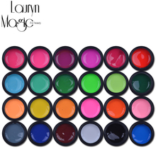 lauryn Magic for beauty 24 Pure Color UV Gel Nail Art DIY Decoration For Nail Manicure Gel(China (Mainland))