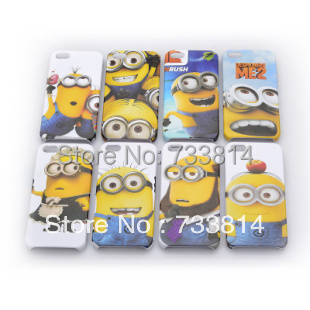 New product cases Despicable Me Hard Cartoon covers cell phone Case For Iphone 5 5G 5S for Iphone4 4 4G 4S cover Wholesale PY