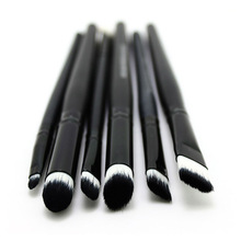 6 PCS Professional Makeup Cosmetics Brushes Eye Shadows Eyeliner Nose Smudge Brush Tool Set Kit Hot Sale