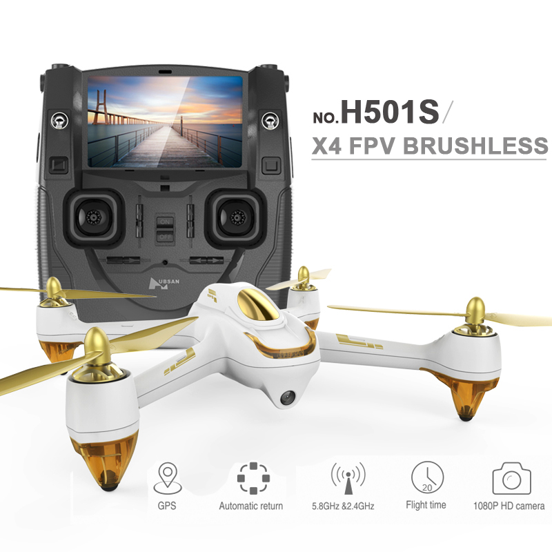 In stock 100 Original Hubsan X4 H501S FPV Quadcopter font b Drone b font with
