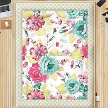 Gros 100% coton imprimé Floral été literie adultes couette mince Patchwork Quilt King / Full(China (Mainland))