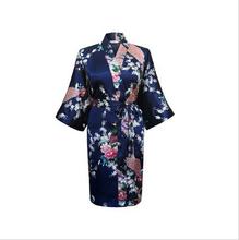 White Sexy Chinese Women Silk Rayon Nightgown Bathrobe Wedding Bridesmaid Robe Sleepwear V-Neck Kimono Gown Plus Size XXXL WR017(China (Mainland))
