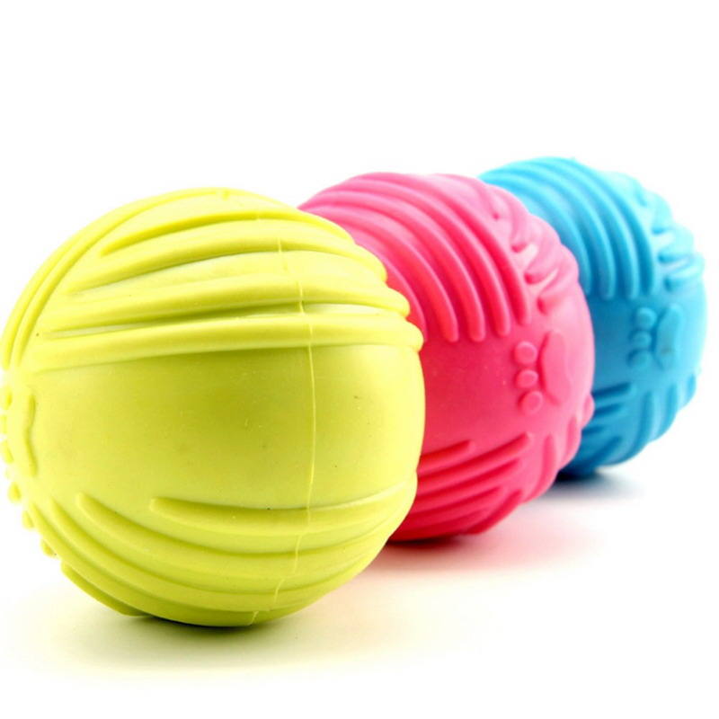 1pcs Solid Natural Rubber Elastic Pet Ball Toys Bite Resistant Dog Training Toy(China (Mainland))