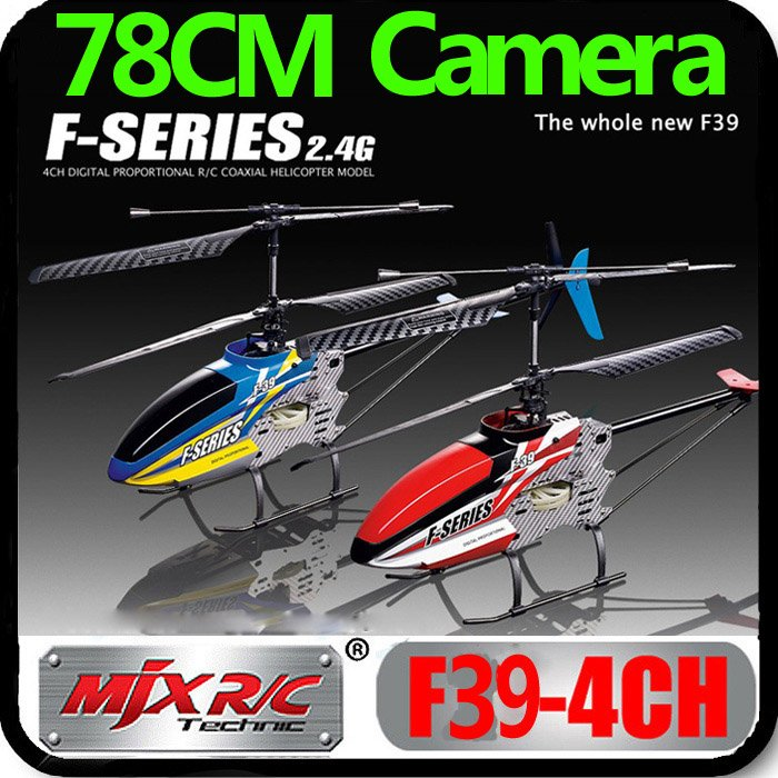 Free Shipping MJX 78CM Huge Newest 4CH F39 1500mAh GYRO With Camera Video 2.4Ghz RC Coaxial Helicopter Metal LCD PRO Wholesale(China (Mainland))