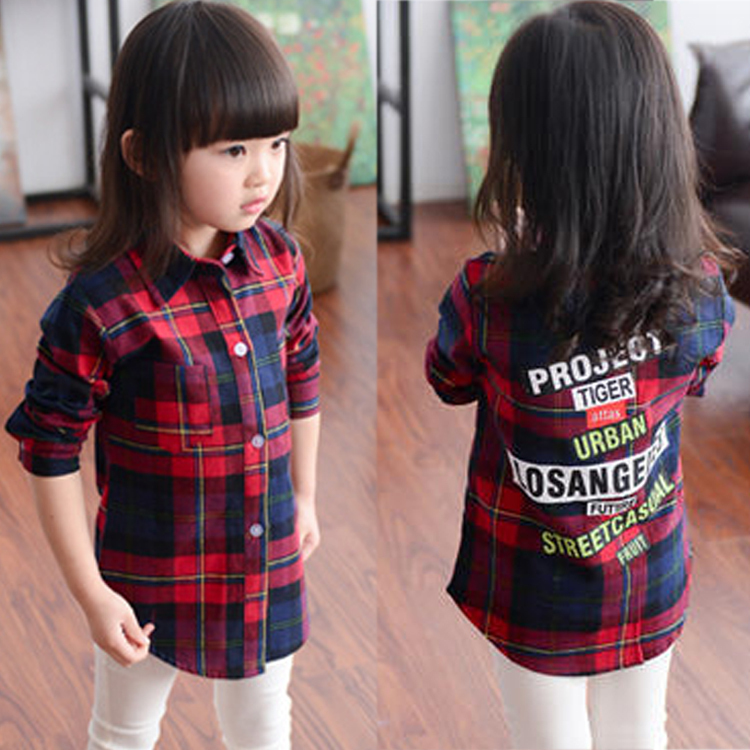 Popular girls plaid shirts kids buy cheap girls plaid for Where to buy cheap plaid shirts