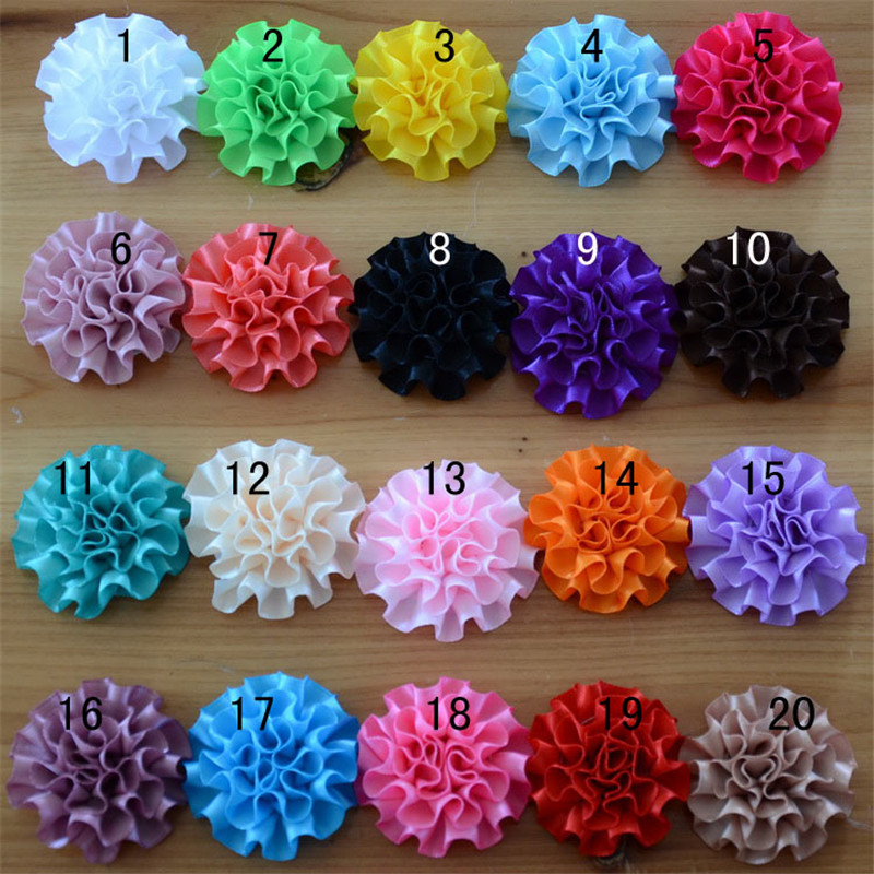 2015 New Arrival in Stock 20pcs/lot 20colors fabric flowers for newborn baby girl hair band headbands hair ornaments accessories(China (Mainland))