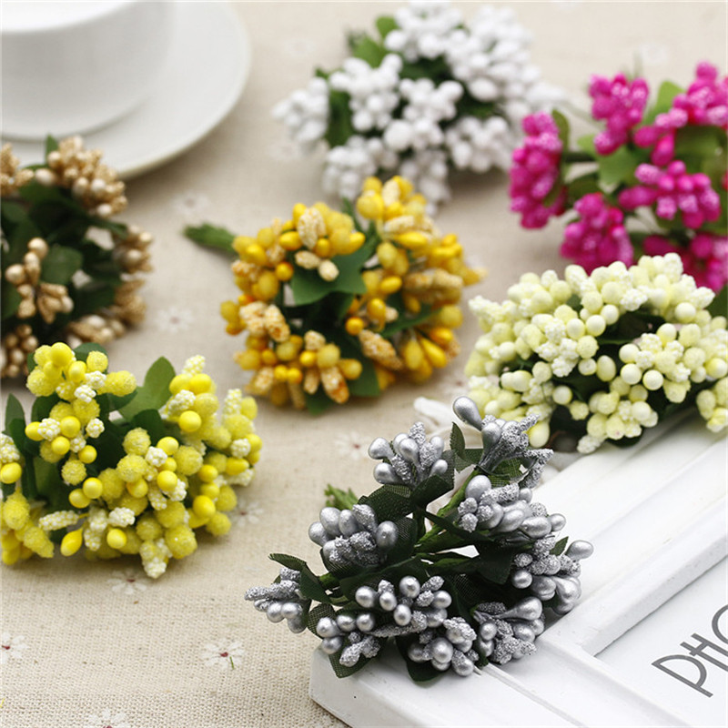 Online cheap wholesale multicolor scrapbooking flower bouquet online cheap wholesale multicolor scrapbooking flower bouquet artificial flower buds stamen wedding box decoration berry stamen by deate dhgate mightylinksfo Image collections