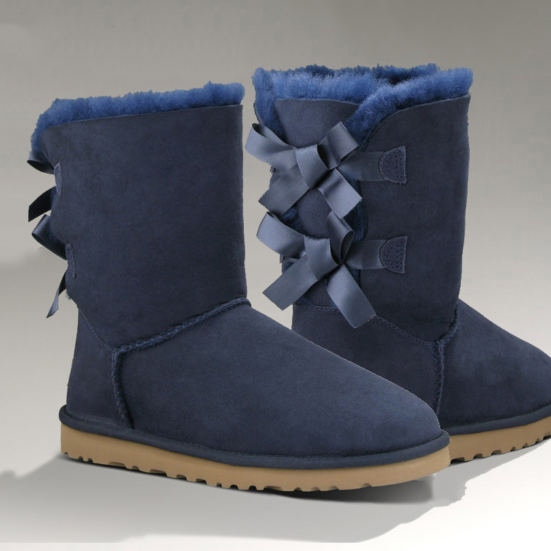 Фотография High Quality sheepskin Real Fur 100% Wool Snow Boots for Women winter shoes women boots winter snow boots Free shipping