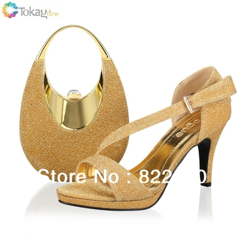 2013 shoes womens free shipping by DHL,fashion african shoes for woman,PU material,gold color,Size39,40 SB8727