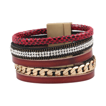 New Fashion 5 Layer Leather Bracelet! Factory Discount Prices, Charm Bracelet! 2 Color Choices Handmade Leather Bracelets(China (Mainland))