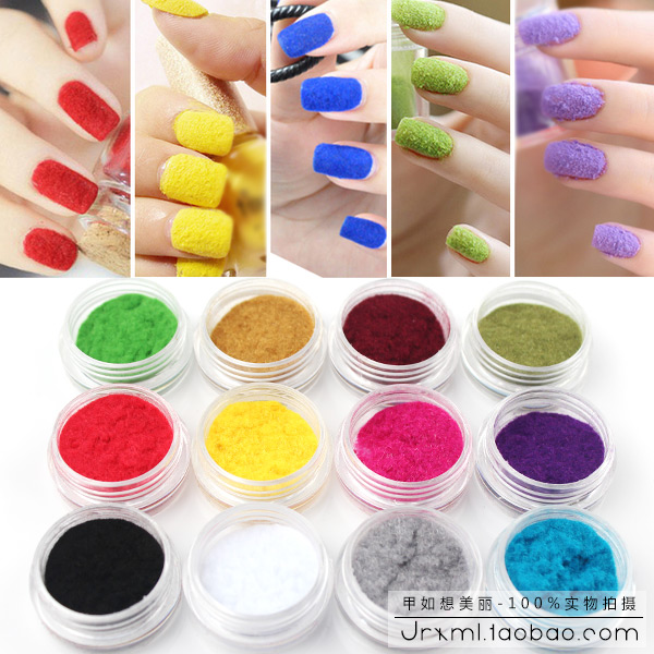Free shipping one box Velvet used with gel nail polish Powder For Nail Art decorations nail sticker Nail Gel tools M841(China (Mainland))