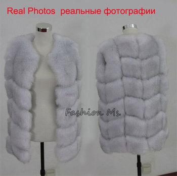 Новый 2015 зимнее пальто женщин мода импорт пальто всего пил лисицы искусственного жилет высокого класса Cappa шуба отдых женщин пальто