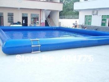 10x10m PVC inflatable pool for swimming+free shipping+free pump+free repair kit