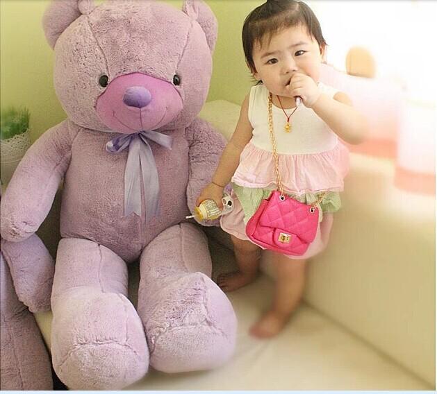 huge lovely lavender teddy bear doll purple big teddy bear plush toy birthday gift about 120cm(China (Mainland))