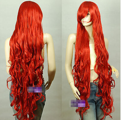 Dark Red Extra Long Cosplay Wigs Seamlessly Contours for women wig fast deliver