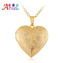gorjuss floating charm locket necklace 18k gold fashion lover Romantic heart photo childs friendship pendant necklaces for women(China (Mainland))