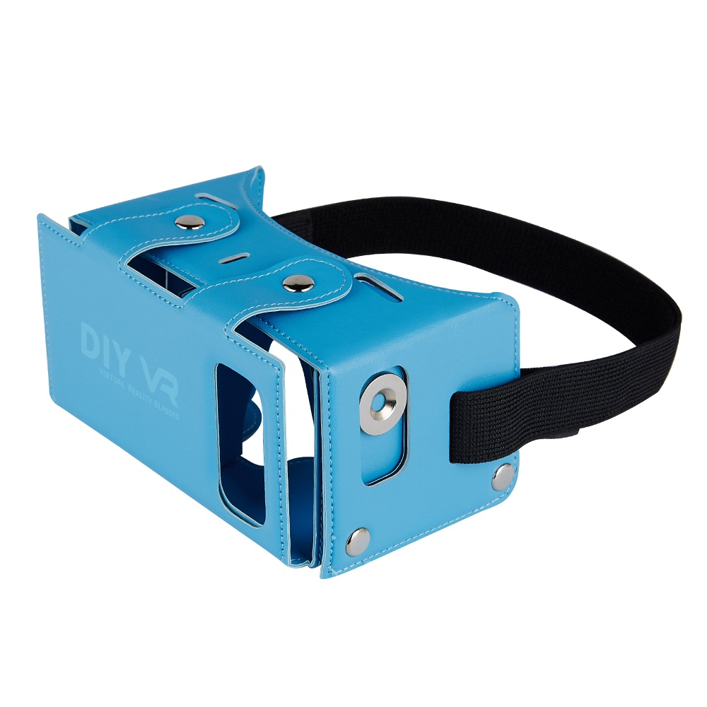virtual reality headset DIY VR BOX 3D phone Glasses for 4 - 5.5 inches Smartphone with PU leather beautiful colors(China (Mainland))