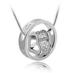 Austrian crystals-iwait love necklace-love life gift adorn article(China (Mainland))
