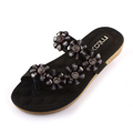 slippers women 2017 New word cool slippers Summer Non slip Flats Rhinestone comfortable Soft Bottom woman