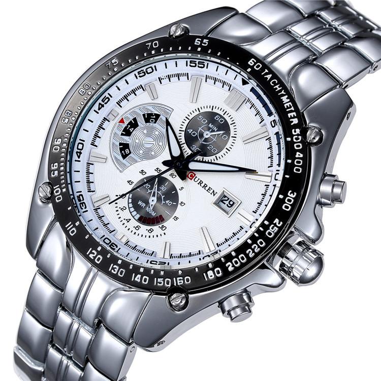 2015 relogio masculino watches men luxury brand CURREN Oirignal Quartz Wristwatches With Date Full Steel Business Casual Watch<br><br>Aliexpress