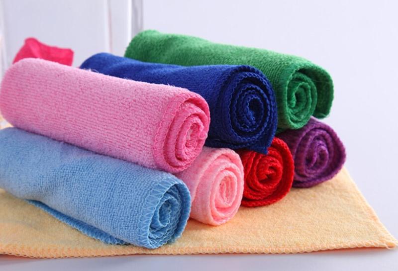 10 Pcs Mixed Color Microfiber Car Cleaning Towel Home Washing Polishing Cloth HG(China (Mainland))