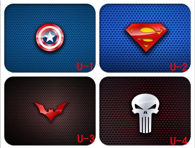 Cool ! Fashion Superman captain symbol Creative cute mouse pad M005(China (Mainland))
