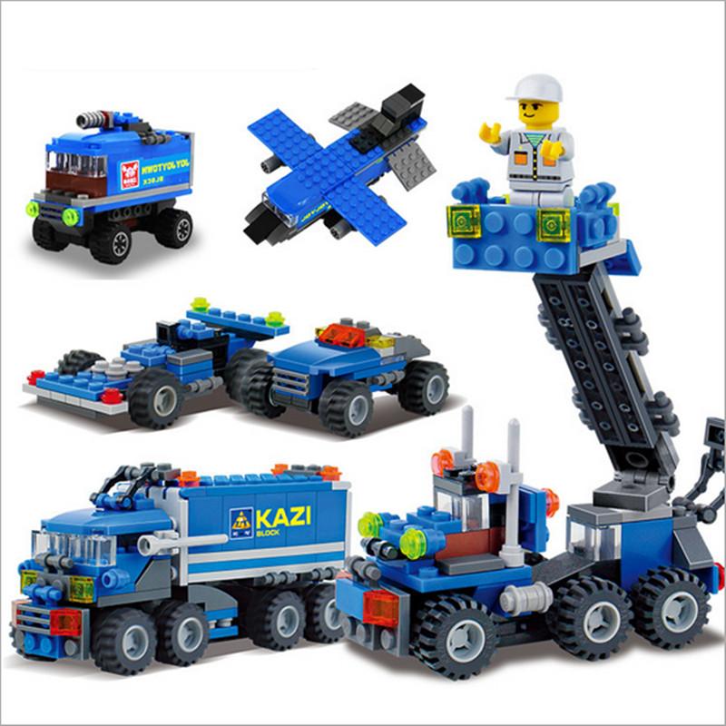 Super Cool 163pcs Transport Dumper Truck DIY Model Building Blocks Can Build 8 Shapes Educational Toys Kids Gifts Wholesale(China (Mainland))