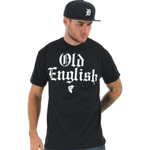 Old English T Shirt Famous Stars and Straps Black Men's T ...