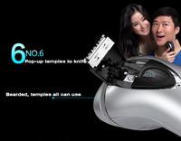 2015 бритья электрическая бритва flyco 100-240v глобальной напряжения бритвы водонепроницаемый аккумуляторная электробритвы для мужчин борода триммер