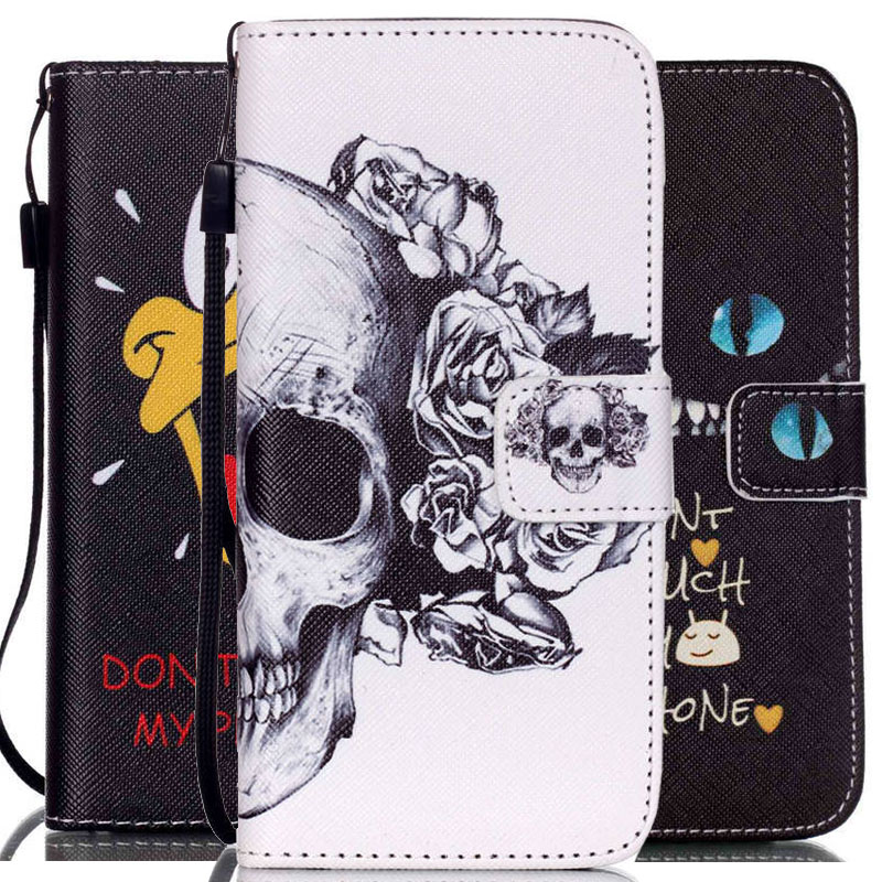 Luxury PU Leather Cell Phone Flip Cases Cover Apple iPhone 5s 5 SE 5C 6 6S Plus 4.7 5.5 inch Card Slots Wallet +Strap - Asixo Online Store store