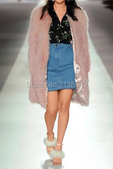 FC034 Окрашенная Цвет Женщины Моды Перо Турция меха пальто