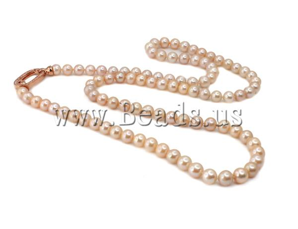 Free shipping!!!Natural Freshwater Pearl Necklace,2013 Fashion Jewelry, Cultured Freshwater Pearl, Round, pink, AA, 9-10mm<br><br>Aliexpress