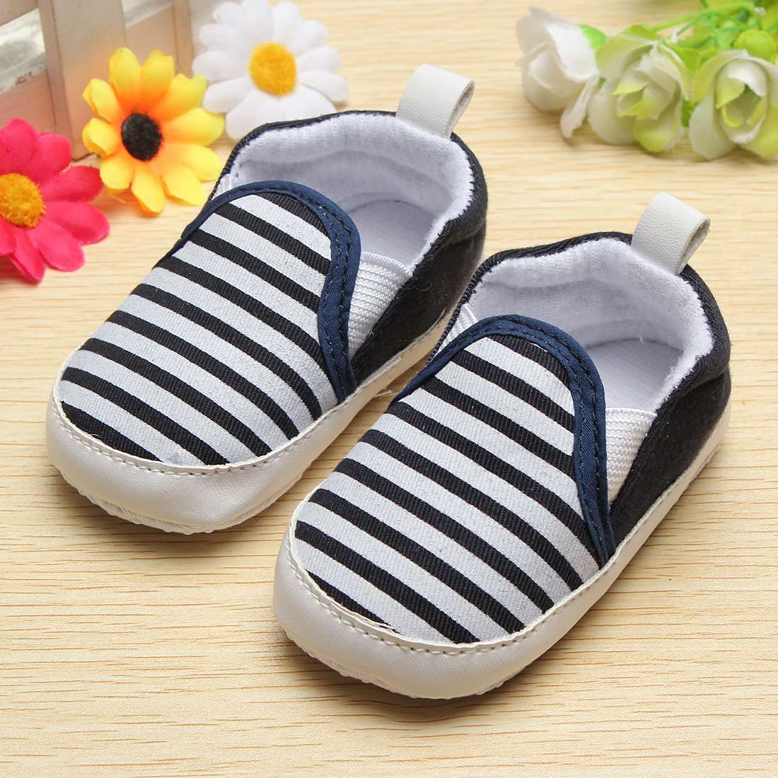 Hot Sale Kids Baby Boy Girl Infant Toddler Stripe Soft Sole Shoes Anti-slip Slip On Casual Crib First walkers Prewalker Shoes(China (Mainland))