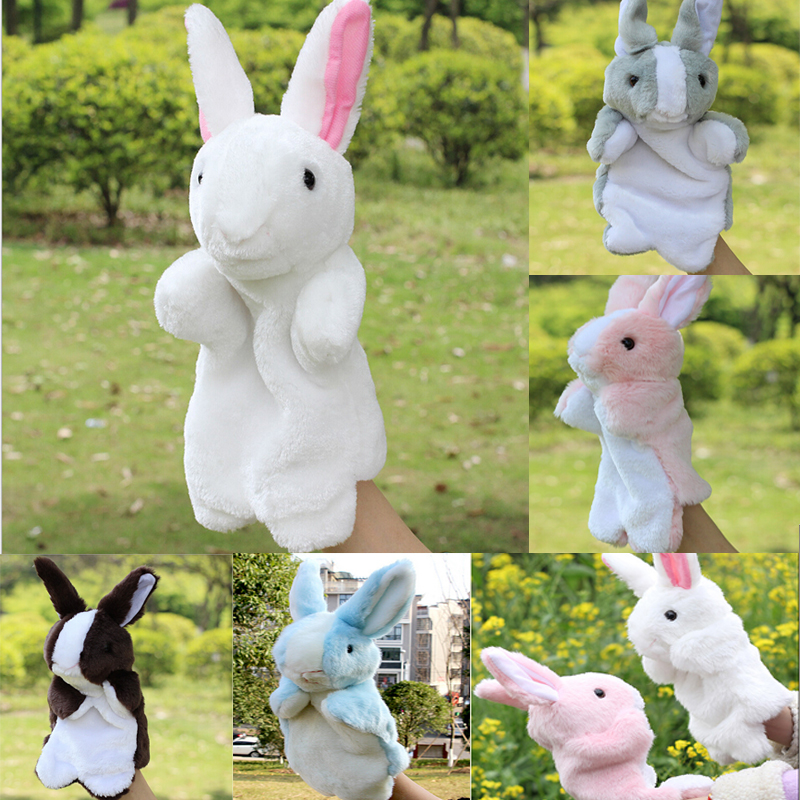 Funny Toys Doll Holiday Sale Lovely Speaking Rabbit Animal Puppet Kids Love Hand Puppet(China (Mainland))