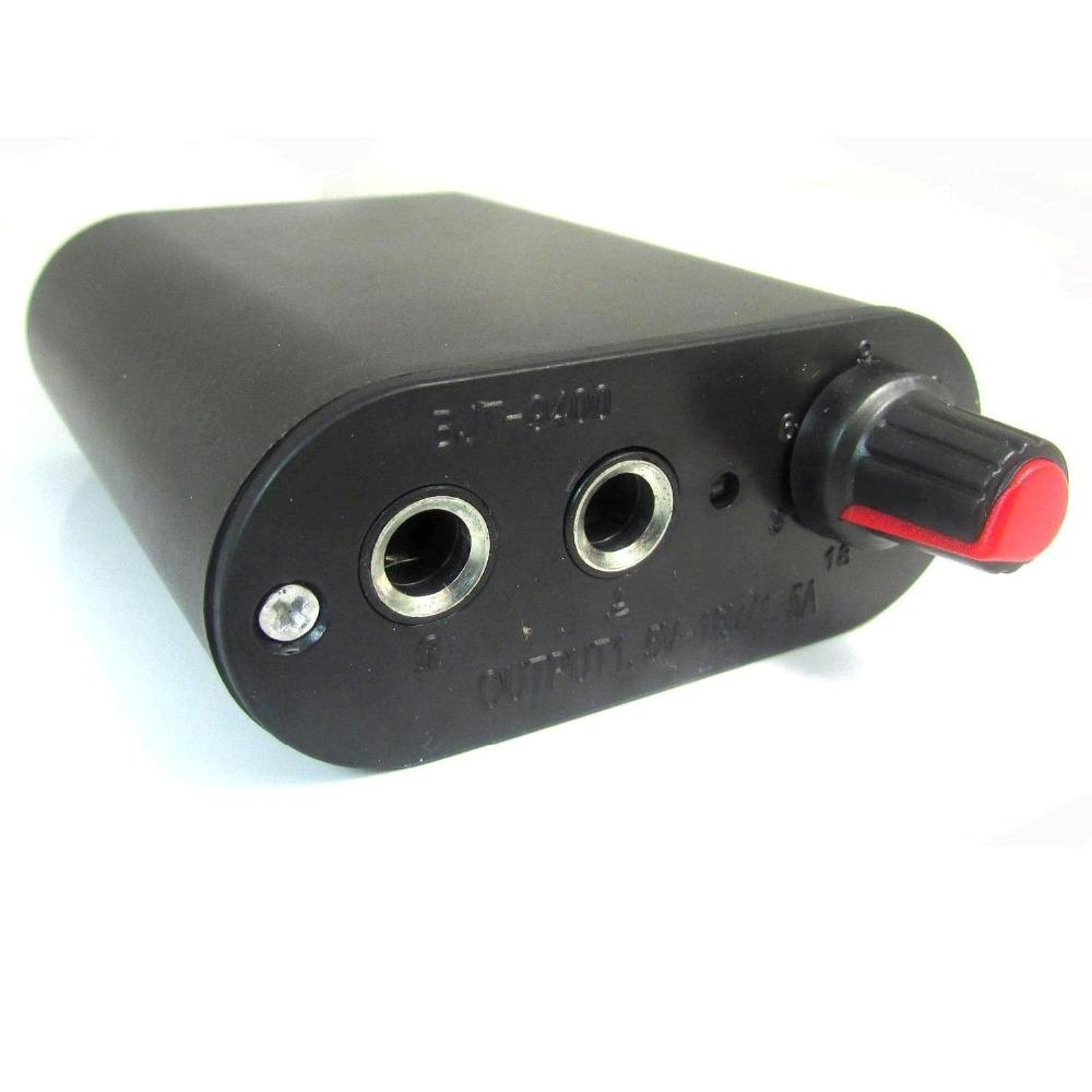 Free Shipping BJT ProTattoo Power Supplies Standard Black Mini Tattoo power supply For Tattoo Machine Gun(China (Mainland))
