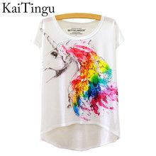 Buy KaiTingu 2016 Brand New Fashion Summer Asymmetric High Low Style Harajuku Travel Print Shirt Short Sleeve T Shirt Women Tops for $6.59 in AliExpress store