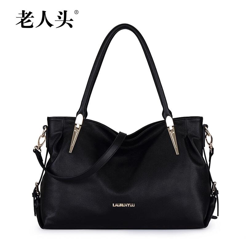 LAORENTOU Brand Bags Handbags Women Top Quality Genuine Leather Bag Cowhide Women Messenger Shoulder Bags Fashion Solid Handbags