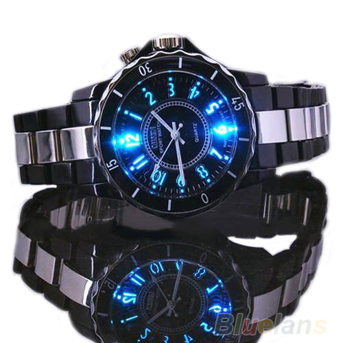 BEST SALE Mens Womens dress Ohsen Steel LED light Men boy Quartz Sport Dial Wrist Watches 02W2<br><br>Aliexpress