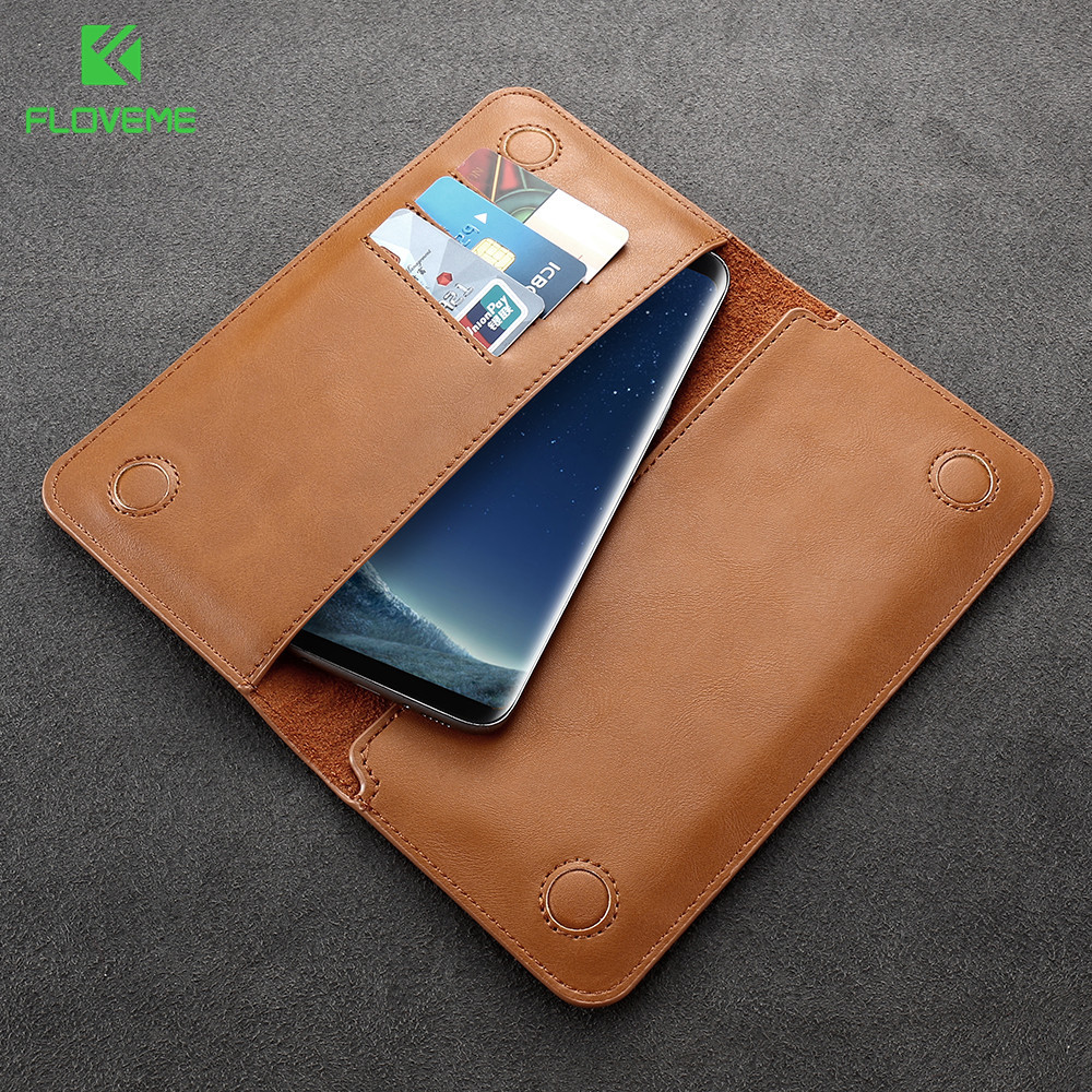 FLOVEME Universal Retro Wallet Cases for Samsung Galaxy S8 S8 Plus S7 S7 Edge S6 Edge S5 J5 J7 Huawei P10 Mate 9 iPhone 6 7 Plus(China (Mainland))